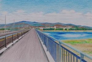 上武大橋の歩道